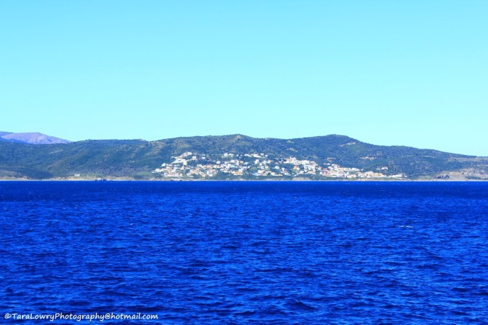 Speaking of blue...this is the view coming over from Spain  on the ferry.